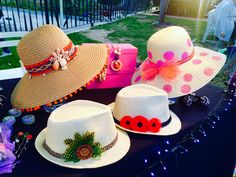 Painted Hats, Hat Crafts, Ibiza Fashion, Diy Hat, Red Hats, Summer Hats, Girl With Hat, Fashion Bags, Headbands