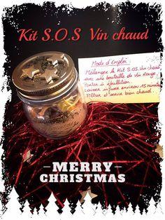 Attention... Cette recette pourrait sauver vos journées bien froides! C'est bien pratique d'avoir sous la main de quoi réaliser un excellent vin chaud en quelques minutes...Le tout dans un joli bocal à confiture.. Le cadeau idéal pour vos paniers gourmands...