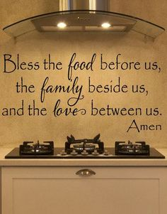 Black 'Bless The Food' Decal