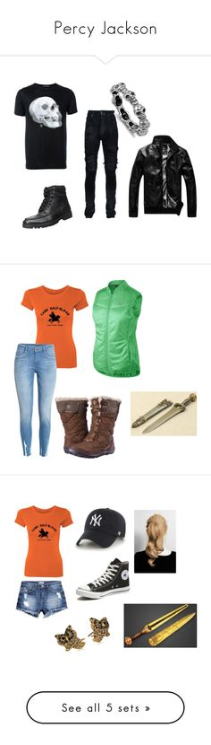 """Percy Jackson"" by pumpkin-princess521 on Polyvore featuring Alexander McQueen, AMIRI, men's fashion, menswear, NIKE, H&M, Columbia, '47 Brand, Converse and Marc Jacobs"