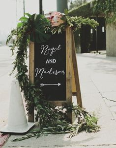 signage #wedding #event | logan cole photography