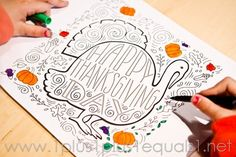 Thanksgiving Doodle Coloring Page