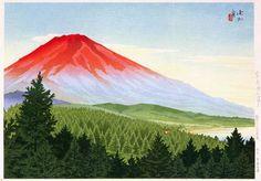 Dawn at Mt. Fuji and Lake Yamanaka  by Ito Shinsui, 1941  (published by Watanabe Shozaburo)
