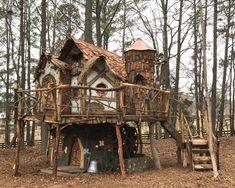 Tinker Bell Tree House | Etsy Beautiful Tree Houses, Beautiful Homes, Tree House Plans, Tree House Homes, Adult Tree House, Fairy Tree Houses, Kid Tree Houses, Cool Tree Houses For Kids, Tree House Designs