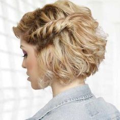 how to style Prom Hairstyles for Short Hair - Twisted Evening Hairstyle for Short Hair