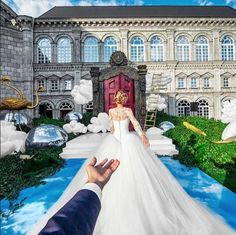 Russian photographer Murad Osmann has been following Natalia Zakharova around the world for years — but over the weekend they traveled somewhere completely new together: down the aisle.  The couple, who became Instagram famous for their photos tagged with the hashtag #followmeto, tied the knot over weekend and celebrated their nuptials by posting a photo in their signature pose.