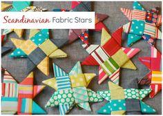 fabric star ornaments