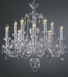 crystal chandeliers | Bohemian crystal chandelier with cut crystal trimmings