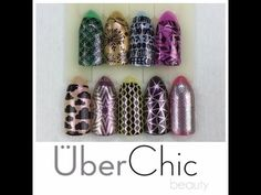 Uber Chic Stamping Plates Series 2 & Magic Dust Review - YouTube