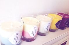 Bespoke, Personalised Soy Candle with your choice of signature scent, glass candle container and colours by The Secret Scent Societe'