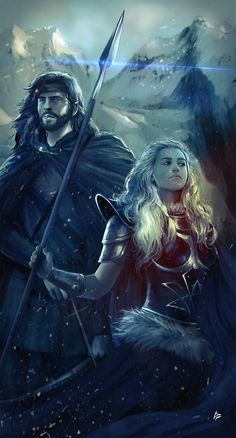 Dragonlance. Tanis Half-Elven & Laurana.