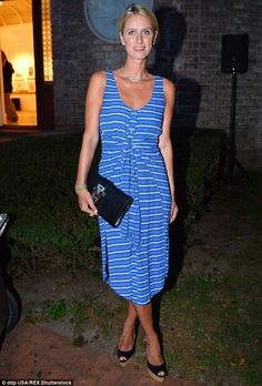 Glowing: Nicky Hilton showed off her gleaming newlywed glow as she attended the Southampton Arts Center's Annual Summerfest in New York with her mum Kathy on Thursday night