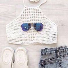 BOGO Crochet crop top Gorgeous white crochet crop top! Perfect for summer and festivals Brand new in packaging! last 2 pics are mine and of me modeling it! **Not from listed brand** Free People Tops