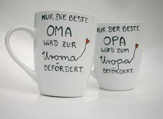 Becher & Tassen - ♥ Tasse für die Oma und die Uroma ♥  Geschenk Oma - ein Designerstück von Hoch-Die-Tassen bei DaWanda