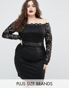 Boohoo Plus Lace Bodycon Dress