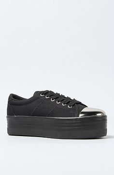 The Zomg Cap Sneaker in Black and Silver by Jeffrey Campbell #misskl #winyourpin