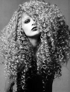 Model Kirsty Hume rock delicious curls, Harper's Bazaar US, October 1994 by Patrick Demarchelier