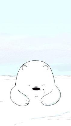 we bare bear♡ Cute Disney Wallpaper, Kawaii Wallpaper, Cute Wallpaper Backgrounds, Cartoon Wallpaper, Ice Bear We Bare Bears, We Bear, Cute Disney Drawings, Cute Drawings, Teddy Pictures