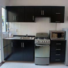 23 Clever DIY Christmas Decoration Ideas By Crafty Panda Kitchen Cupboard Designs, Black Kitchen Cabinets, Kitchen Sets, Kitchen Design, Micro Kitchen, Kitchen Furniture, Kitchen Decor, Small Kitchen Remodel Cost, Modern Kitchen Interiors