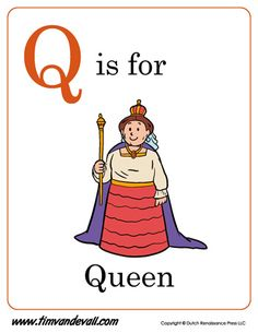 Q Is For Queen Letter Printable Kids Free Preschool Teachers And