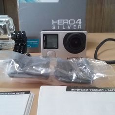 GoPro Hero 4 HERO4 Action Camera Camcorder Silver Edition CHDHY-401 With Extras #GoPro