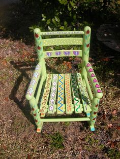 ..Hand Painted Child's Rocking Chair...
