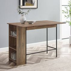 """48"""" Counter Height Drop Leaf Table With Storage - Saracina Home : Target Dining Table With Storage, Counter Height Dining Table, Table Height, Counter Space, Dining Table Small Space, Dining Tables, Dining Set, Kitchen Dining, Dining Room"""
