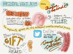 Brad Ovenall-Carter's visual notes from Theresa Lalond's talk at Northern Voice 13
