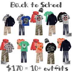 Back to school wardrobe - $170 for 10 outfits #BTS. ... I like the idea of this but not some of the pairings