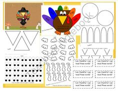 "Thanksgiving center or small group activities now for 50% off!"" This sale ends on 11/19 My Sight Word Turkey from Mrs Rs Sweet Seconds on TeachersNotebook.com (13 pages)"