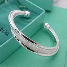 Elegant Silver Plated Bangles Cuff