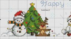 Cross Stitch Boarders, Xmas Cross Stitch, Beaded Cross Stitch, Cross Stitch Designs, Cross Stitch Patterns, Christmas Cross, Christmas Ornaments, Snow Much Fun, Needlework