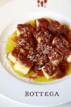 Ricotta Gnocchi with Salsa della Nonna from Chef Michael Chiarello's Bottega Restaurant in Napa
