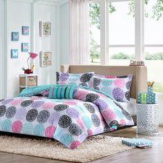 Wonderful Mi Zone Audrina Reversible Comforter Set. Teen ...