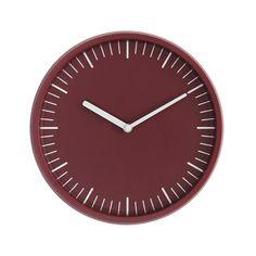 Normann Copenhagen's Day wall clock, red