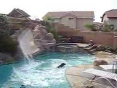 Pool Slides On Pinterest Salt Water Pools Swimming Pool Toys And Pool Waterfall