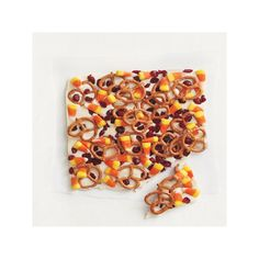 Candy Corn and Pretzel Bark...make great hostess gifts