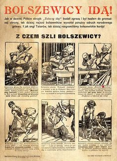 """The Bolsheviks Are Coming! Anti Communism, Poland History, The Bolsheviks, Polish Posters, Crime, Russian Revolution, Modern History, World War Two, Vintage World Maps"