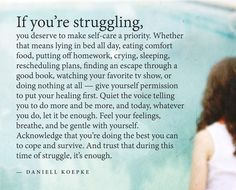 If you are struggling...