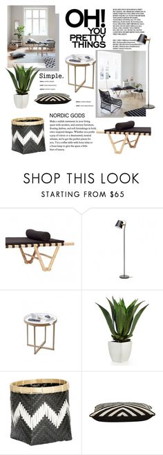 """Simplicity"" by cruzeirodotejo ❤ liked on Polyvore featuring interior, interiors, interior design, home, home decor, interior decorating, Dansk, Hübsch, .wireworks and Jayson Home"