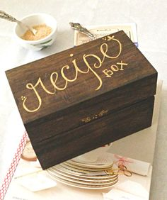 Handcrafted Recipe Box (can Be Personalized)