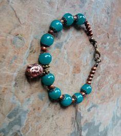 Handmade Beads, Handmade Bracelets, Beaded Bracelets, Rose Quartz, Copper, Bronze, Pearls, Crystals, Elegant