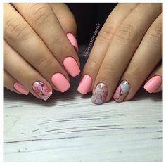 Beautiful nails 2017, Beautiful pink nails, Exquisite nails, Nails ideas 2017, Nails with flower print, Nails with stickers, Pink dress nails, Pink manicure ideas