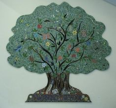 Tree of Life Mosaic - Twyning School, Glos 2015 Mosaic Projects, Tree Of Life, School, Schools, Mosaic Designs