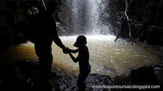 Cachoeira Boca do Corte na comunidade do Km 13 em Porto União - Santa Catarina - Brasil.
