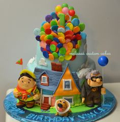 ''UP'' inspired cake. Fondant characters :)