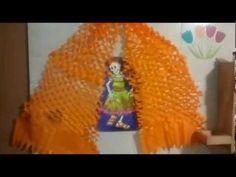 Guirnalda de flores de cempasúchil hechas con papel crepé para el Día de Muertos - YouTube