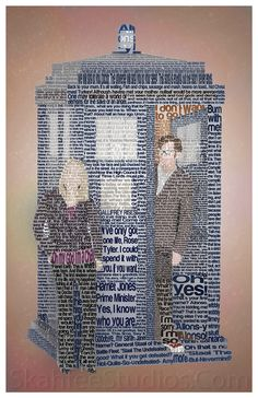 Doctor Who Typography using quotes - Imgur - 10, Rose & the TARDIS