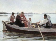 알베르 에델펠트, 아이의 장례식 : A Child's Funeral (Study), Oil by Albert Gustaf Aristides Edelfelt(1854-1905, Finland)