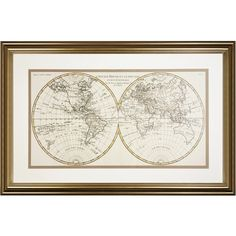 Laura Ashley Antique Style World Map Framed Print ($100) ❤ liked on Polyvore featuring home, home decor, wall art, art, filler, laura ashley home decor, map wall art, vintage style home decor, vintage inspired home decor and map home decor
